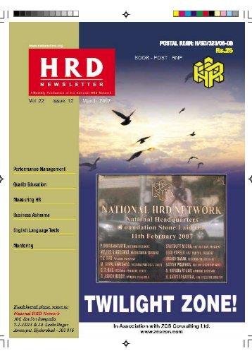 Performance Management - National HRD Network