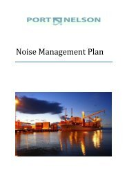 Noise Management Plan - Port Nelson
