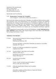 SEMINAR FÜR SOZIOLOGIE PD Dr. Christof Wolf Tel. (0621) 1246 ...