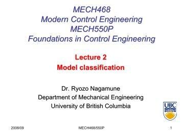 pdf (slide per page) - UBC Mechanical Engineering - University of ...