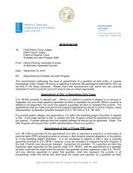 Appointment of Guardian ad Litem Program