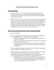 1 Enforcing the Communicable Disease Laws Enforcement Options ...