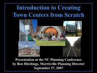 Town Centers from Scratch