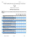 OFFENDER TRAITS INVENTORY (Risk Assessment - OPUS Screen ... - Page 3