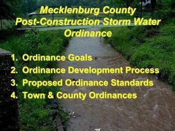 Post-Construction Ordinance