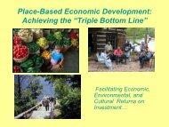 "Place-Based Economic Development: Achieving the ""Triple Bottom ..."