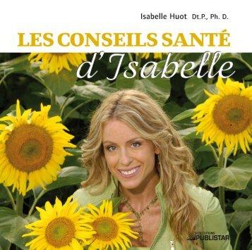 Les conseils santé d'Isabelle - Sogides