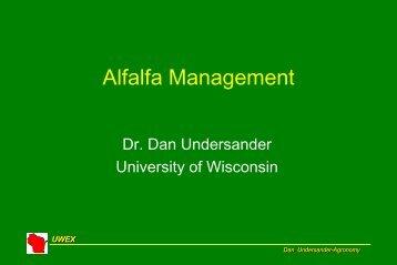 Alfalfa Management