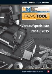 Befestigungstechnik RevoTool fixtool 2014/2015