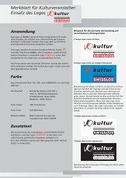Merkblatt für Kulturveranstalter: Einsatz des Logos - SOKULTUR.