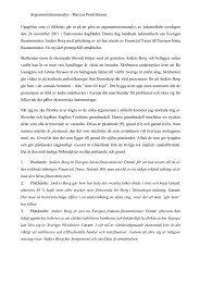Argumentationsanalys -‐ Marcus Fredriksson Uppgiften som vi ...