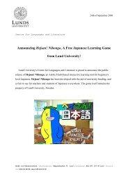 Announcing Hejsan! Nihongo - Språk