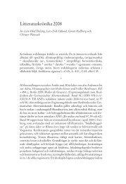Litteraturkrönika 2008 (ANF 124 (2009)) - Språk - Lunds universitet