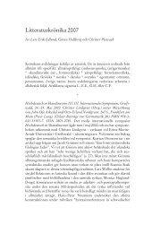 Litteraturkrönika 2007 (ANF 123 (2008)) (PDF 0.9 MB - Nytt ... - Språk