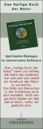 Das Heilige Buch der Natur - Anzeige