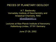 pieces of planetary geology - max planck research school solar ...