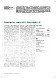 Fromagerie à solaire, 2350 Saignelégier/JU - Solar Agentur Schweiz