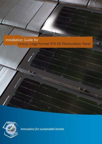 Imerys PVt60 Installation guide - Solar Cube Ltd