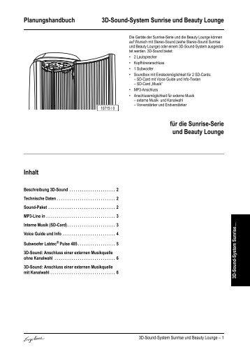 Technische Daten 3D-Sound-Unit