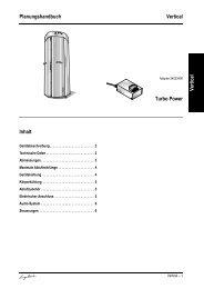 Planungshandbuch Vertical Vertical Turbo Power Inhalt
