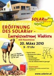 Energiezentrums Winklern - SOLARier Gesellschaft für erneuerbare ...