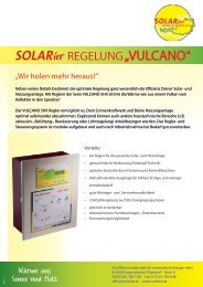 Prospekt Vulcano SHX - SOLARier Gesellschaft für erneuerbare ...