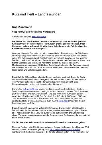 Kurz und Heiß – Langfassungen - SOLARier Gesellschaft für ...