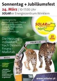 Sonnentag + Jubiläumsfest - SOLARier Gesellschaft für erneuerbare ...