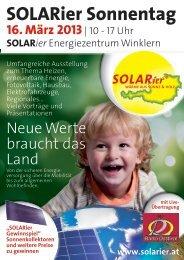 SOLARier Sonnentag - SOLARier Gesellschaft für erneuerbare ...
