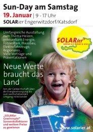 Sun-Day am Samstag - SOLARier Gesellschaft für erneuerbare ...