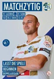 FC Luzern Matchzytig N°1 14/15 (Sion/St. Johnstone)