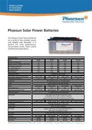 Phaesun Solar Power Batteries...
