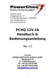 PCHQ 12V-2A Handbuch & Bedienungsanleitung Ver. 1.1