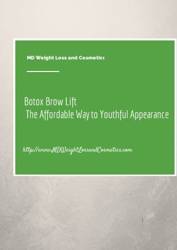 Botox Brow Lift The Affordable Way to Youthful Appearance