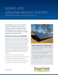 SEriES 200 Ground MounT SySTEM - the Solar Panel Store