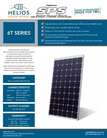 6T SERIES - the Solar Panel Store