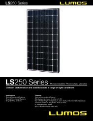 Uniform performance and stability under a range of - the Solar Panel ...