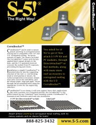 Corru Bracket Brochure - the Solar Panel Store