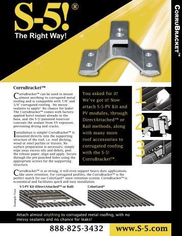 Corru Bracket Brochure - the Solar Panel Store