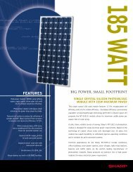 NT-S5E1U Solor Specification Sheet - the Solar Panel Store