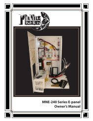 MNE-240 Series E-panel Owner's Manual - Midnite Solar