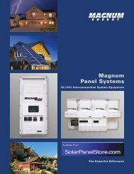 Magnum Panel Systems - the Solar Panel Store