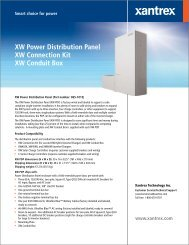 XW Power Distribution Panel XW Connection Kit XW ... - Solar Panels
