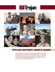 TROJAN BATTERY USER'S GUIDE