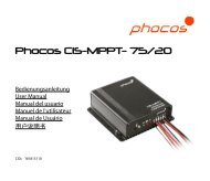 Phocos CIS-MPPT- 75/20 - the Solar Panel Store