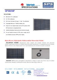Spec Sheet - the Solar Panel Store