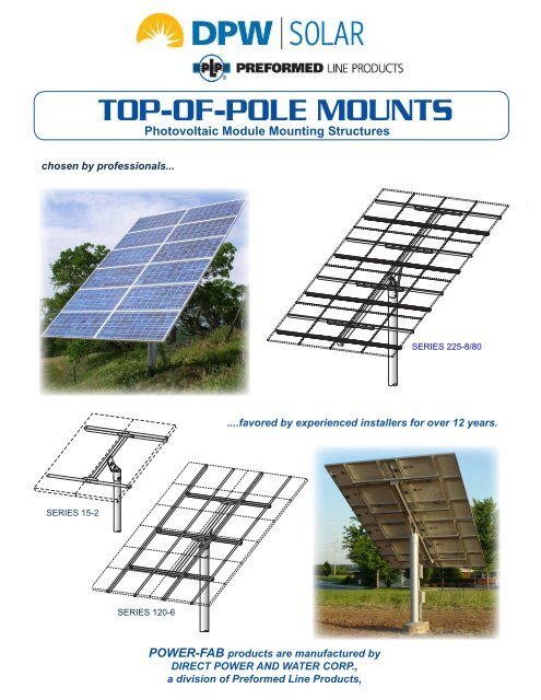 TOP-OF-POLE MOUNTS - the Solar Panel Store