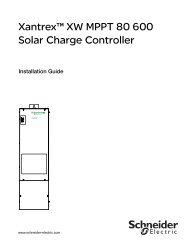 Xantrex™ XW MPPT 80 600 Solar Charge Controller