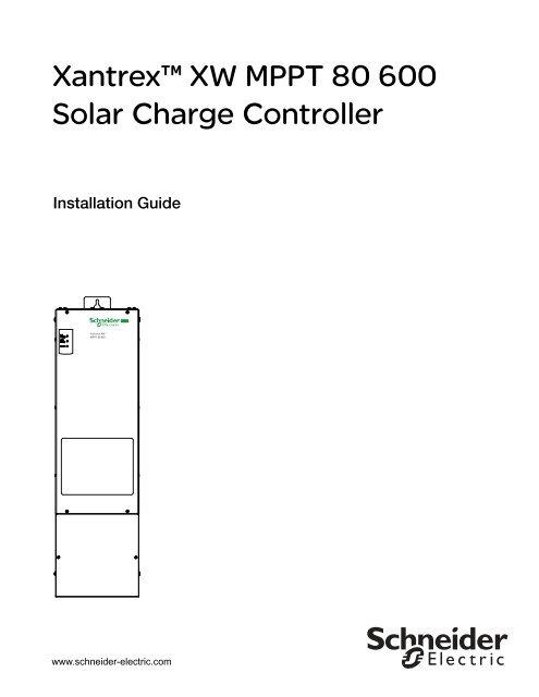 Xantrex™ XW MPPT 80 600 Solar Charge Controller