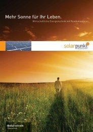 Flyer Solarstrom - Solarpunkt AG